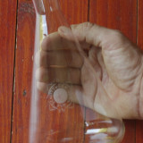 Vas transparent din sticla de laborator Schottogen Jena 750 ml model Erlenmeyer