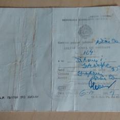Obligatiune de predare 1969/ RPR - Pasaport/Document