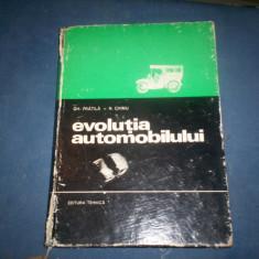 EVOLUTIA AUTOMOBILULUI - GH. FRATILA, N. CHIMU, Alta editura