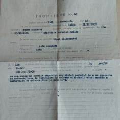 Incheiere nr. 42 Capitania Portului Galati/ 1971 - Hartie cu Antet
