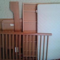 Patut copii 0-3 ani ( IKEA) - Patut lemn pentru bebelusi, Altele, 120x60cm, Maro