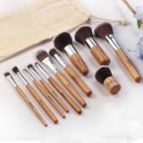 Set Pensule Make Up Profesionale / 11 Pensule - Maner din Lemn