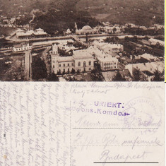 Vatra Dornei (Bucovina, Suceava)- Vedere generala-rara, cenzura WWI - Carte Postala Bucovina 1904-1918, Circulata, Printata