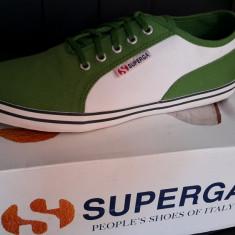 Tenisi SUPERGA originali - tenisi panza - adidasi dama-in cutie-37, Verde, Textil