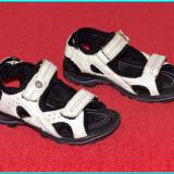 DE FIRMA → Sandale din piele, comode, aerisite, calitate ECCO → fetite | nr. 27