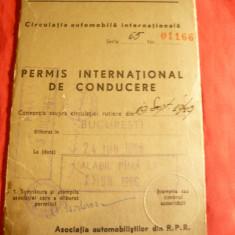 Permis International de Conducere 1957 - Pasaport/Document