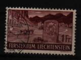 1937 liechtenstein mi. 167 stampilat