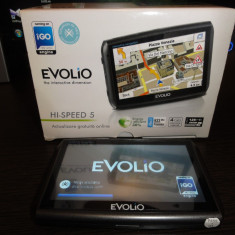 GPS Evolio Hi-Speed 5 IGO, 5 inch, Toata Europa, Fara actualizare, Comanda vocala: 1, Redare audio: 1