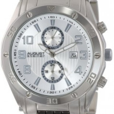 August Steiner Men's AS8070SS Swiss | 100% original, import SUA, 10 zile lucratoare a12107 - Ceas barbatesc August Steiner, Quartz