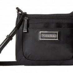 Geanta Calvin Klein Nylon Organization Crossbody | 100% original, import SUA, 10 zile lucratoare z12107 - Geanta Dama Calvin Klein, Geanta de umar, Negru, Piele