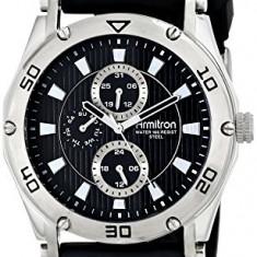 Armitron Men's 20 4956BKSVBK Silver-Tone | 100% original, import SUA, 10 zile lucratoare a12107 - Ceas barbatesc Armitron, Quartz