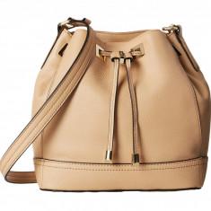 Geanta Calvin Klein Pebble Leather Drawstring | 100% original, import SUA, 10 zile lucratoare z12107 - Geanta Dama Calvin Klein, Geanta de umar, Bej, Piele