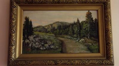 tablou peisaj de munte foto