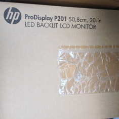 Monitor HP P201, nou. 2 bucati. - Monitor LED HP, 20 inch, 1600 x 900