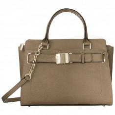 Geanta Calvin Klein Saffiano Shopper | 100% original, import SUA, 10 zile lucratoare z12107 - Geanta Dama Calvin Klein, Geanta de umar, Bej, Piele