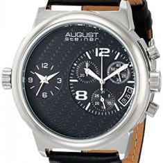 August Steiner Men's AS8151SSB Analog | 100% original, import SUA, 10 zile lucratoare a12107 - Ceas barbatesc August Steiner, Quartz