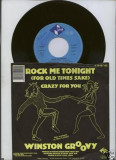"Winston Groovy - Rock me tonight (1985, Zomba) Disc vinil single 7"" reggae"