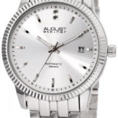 August Steiner Men's ASA824SS Diamond | 100% original, import SUA, 10 zile lucratoare a12107 - Ceas barbatesc August Steiner, Mecanic-Automatic