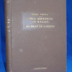 JULES VERNE - CINCI SAPTAMANI IN BALON / UN BILET DE LOTERIE - INTERBELICE