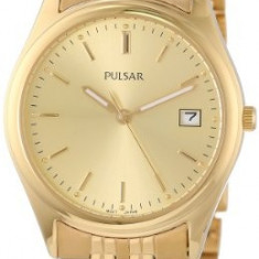 Pulsar Men's PXH450 Dress Gold-Tone | 100% original, import SUA, 10 zile lucratoare a12107 - Ceas barbatesc Pulsar, Quartz