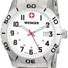 Wenger Men's 741 102 Stainless | 100% original, import SUA, 10 zile lucratoare a12107 - Ceas barbatesc Wenger, Quartz