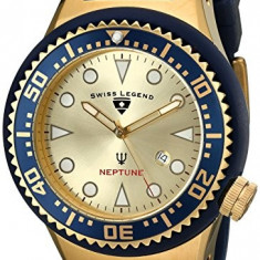 Swiss Legend Men's 21818D-YG-07-BL Neptune | 100% original, import SUA, 10 zile lucratoare a42707 - Ceas barbatesc Swiss Legend, Elegant, Quartz