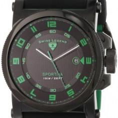 Swiss Legend Men's 40030-BB-01-GRA Sportiva | 100% original, import SUA, 10 zile lucratoare a12107 - Ceas barbatesc Swiss Legend, Quartz