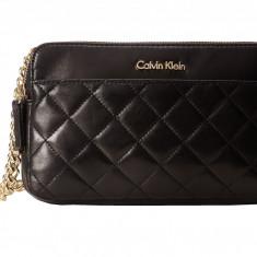 Geanta Calvin Klein Key Item Leather Crossbody | 100% original, import SUA, 10 zile lucratoare z12107 - Geanta Dama Calvin Klein, Geanta de umar, Negru, Piele