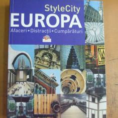 Europa afaceri distractii cumparaturi 800 foto color 14 harti Bucuresti 2007