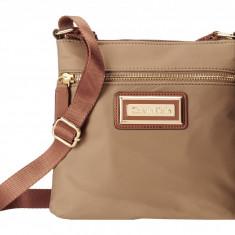 Geanta Calvin Klein Nylon Crossbody | 100% original, import SUA, 10 zile lucratoare z12107 - Geanta Dama Calvin Klein, Geanta de umar, Bej