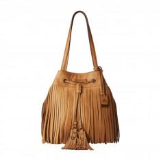 Geanta Frye Heidi Fringe Bucket | 100% original, import SUA, 10 zile lucratoare z12107 - Geanta Dama Frye, Geanta de umar, Camel, Piele