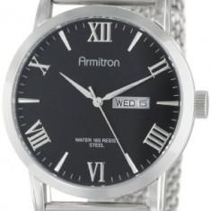 Armitron Men's 20 4923BKSV Silver-Tone | 100% original, import SUA, 10 zile lucratoare a12107 - Ceas barbatesc Armitron, Quartz