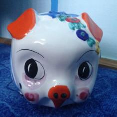 Pusculita ceramica purcel pictat manual - Pusculita copii