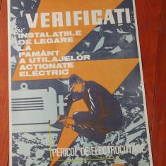 Vintage / Afis - protectia munciii - model deosebit - rar !!! - de colectie - Reclama Tiparita