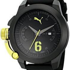 PUMA Men's PU103781003 Advance Black | 100% original, import SUA, 10 zile lucratoare a12107 - Ceas barbatesc Puma, Sport, Quartz