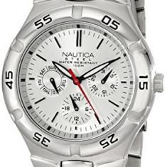 Nautica Men's N10074 Silver-Tone Stainless | 100% original, import SUA, 10 zile lucratoare a12107 - Ceas barbatesc Nautica, Quartz