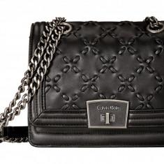 Geanta Calvin Klein Lamb Shoulder Bag | 100% original, import SUA, 10 zile lucratoare z12107 - Geanta Dama Calvin Klein, Geanta de umar, Negru, Piele