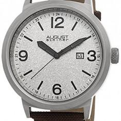 August Steiner Men's AS8088BR Silver-tone | 100% original, import SUA, 10 zile lucratoare a12107 - Ceas barbatesc August Steiner, Quartz
