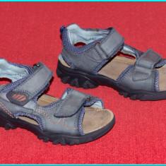 DE CALITATE → Sandale din piele, aerisite, comode, ELEFANTEN → baieti | nr. 28 - Sandale copii Elefanten, Culoare: Gri, Piele naturala