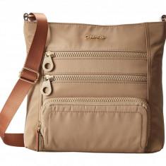 Geanta Calvin Klein Nylon Crossbody | 100% original, import SUA, 10 zile lucratoare z12107 - Geanta Dama Calvin Klein, Geanta de umar, Cappuccino