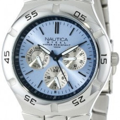 Nautica Men's N10075 Metal Round | 100% original, import SUA, 10 zile lucratoare a12107 - Ceas barbatesc Nautica, Fashion