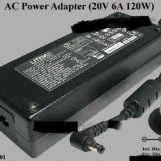 Incarcator original laptop Acer Aspire seria 9920 Liteon Pa-1121-01 20V 6A 120W, Incarcator standard
