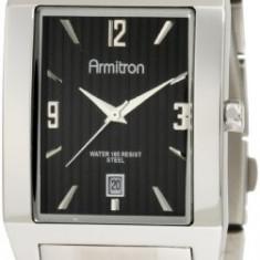 Armitron Men's 204321BKSV Silver-Tone Stainless   100% original, import SUA, 10 zile lucratoare a12107 - Ceas barbatesc Armitron, Sport