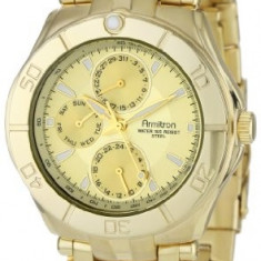 Armitron Men's 204224CHGP Gold-Tone Stainless | 100% original, import SUA, 10 zile lucratoare a12107 - Ceas barbatesc Armitron, Quartz