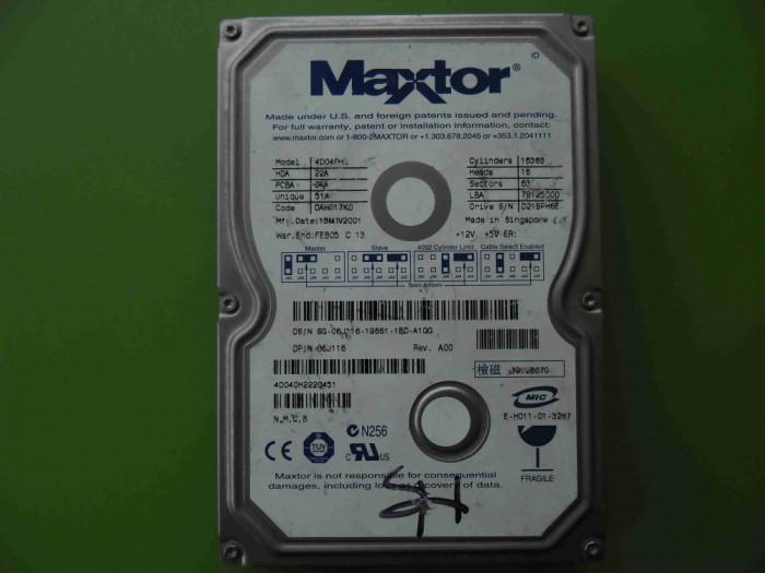HDD 40GB Maxtor 4D040H2 ATA IDE - BAD-uri