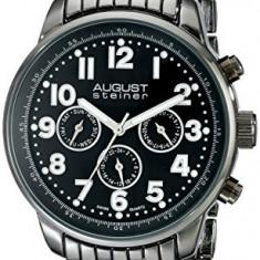August Steiner Men's AS8147BK Analog | 100% original, import SUA, 10 zile lucratoare a12107 - Ceas barbatesc August Steiner, Quartz