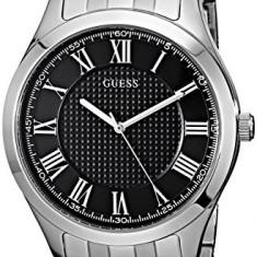 GUESS Men's U0476G1 Classic Silver-Tone | 100% original, import SUA, 10 zile lucratoare a12107 - Ceas barbatesc Guess, Quartz