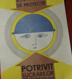 Vintage / Afis - protectia munciii - model deosebit - rar !!!