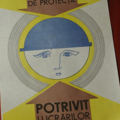 Vintage / Afis - protectia munciii - model deosebit - rar !!! - Reclama Tiparita