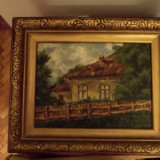 Tablou casa, Peisaje, Ulei, Realism